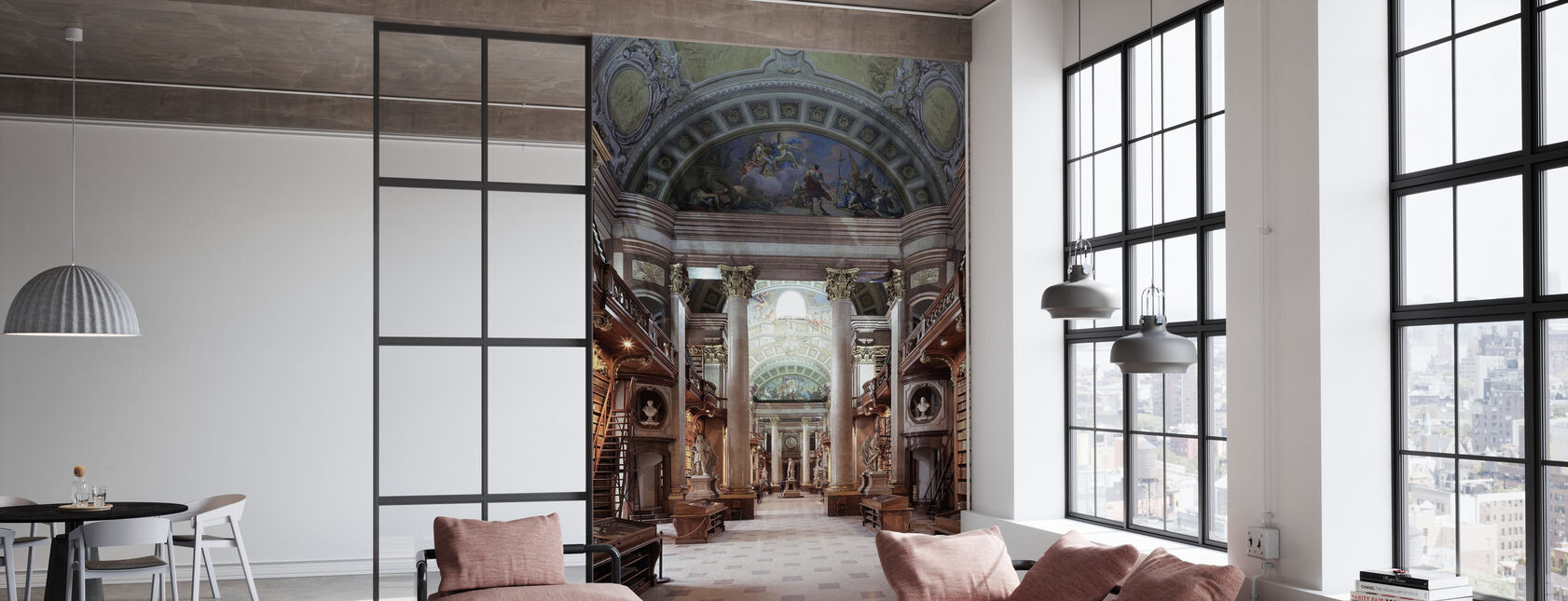 Imperial Library in Wien - Wallpaper - Office