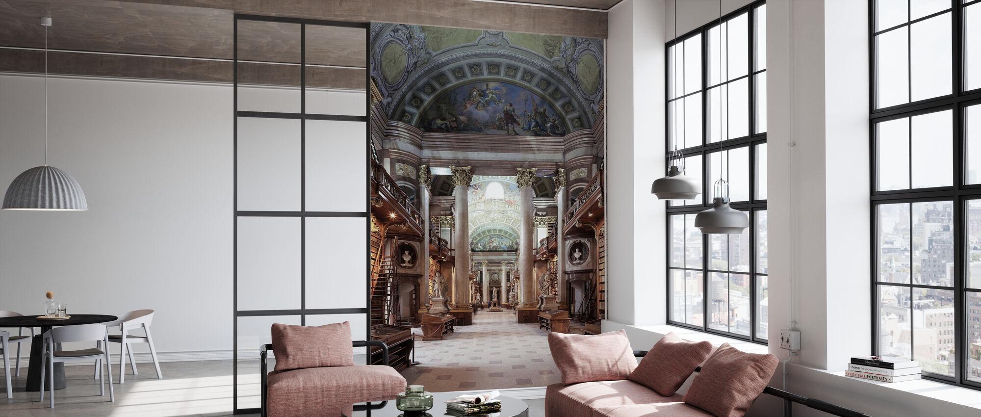 Imperial Library in Wien - Wallpaper - Office