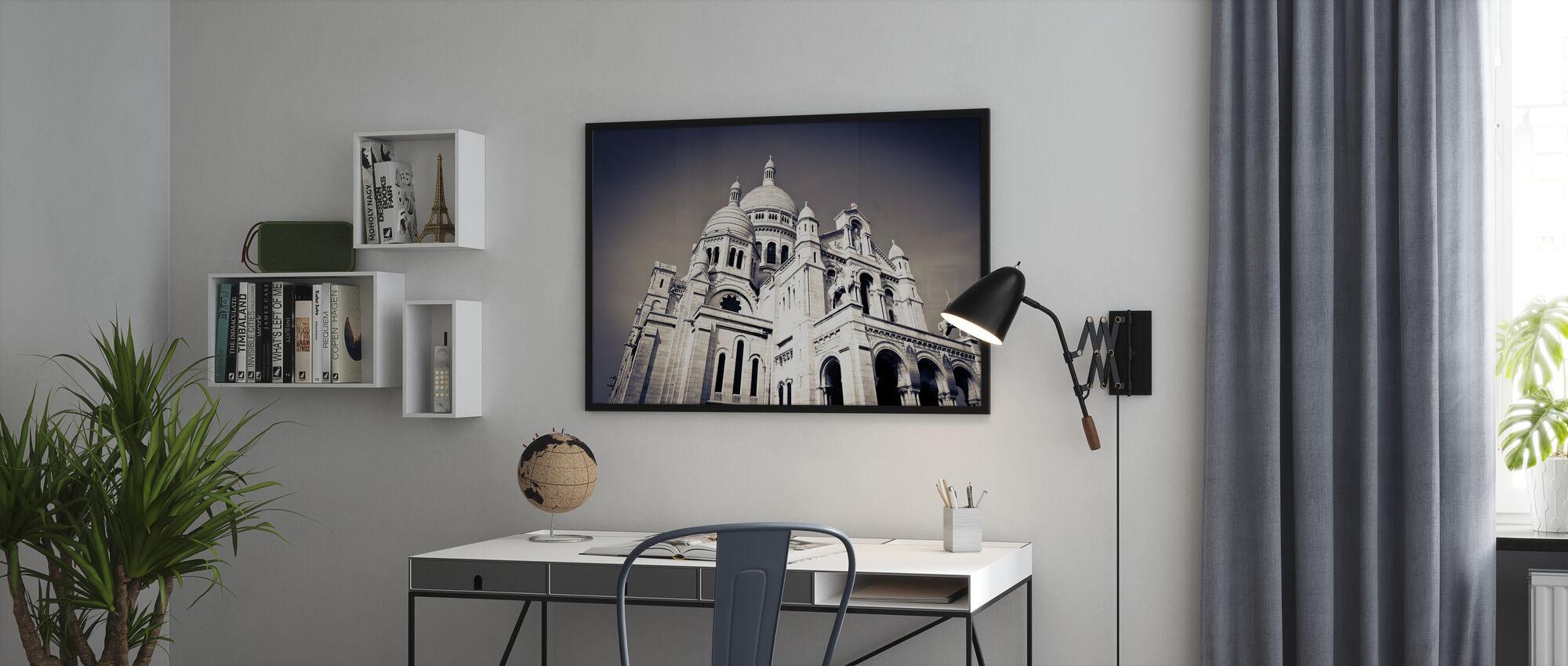 Sacre Coeur Basilica in Montmarte - Poster - Office