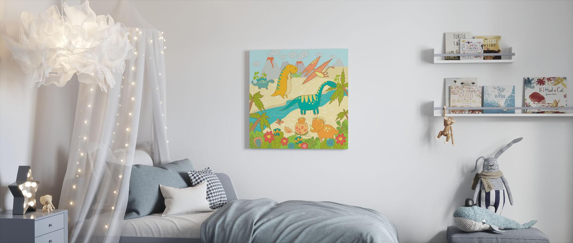 Dinosaurs World - Canvas print - Kids Room