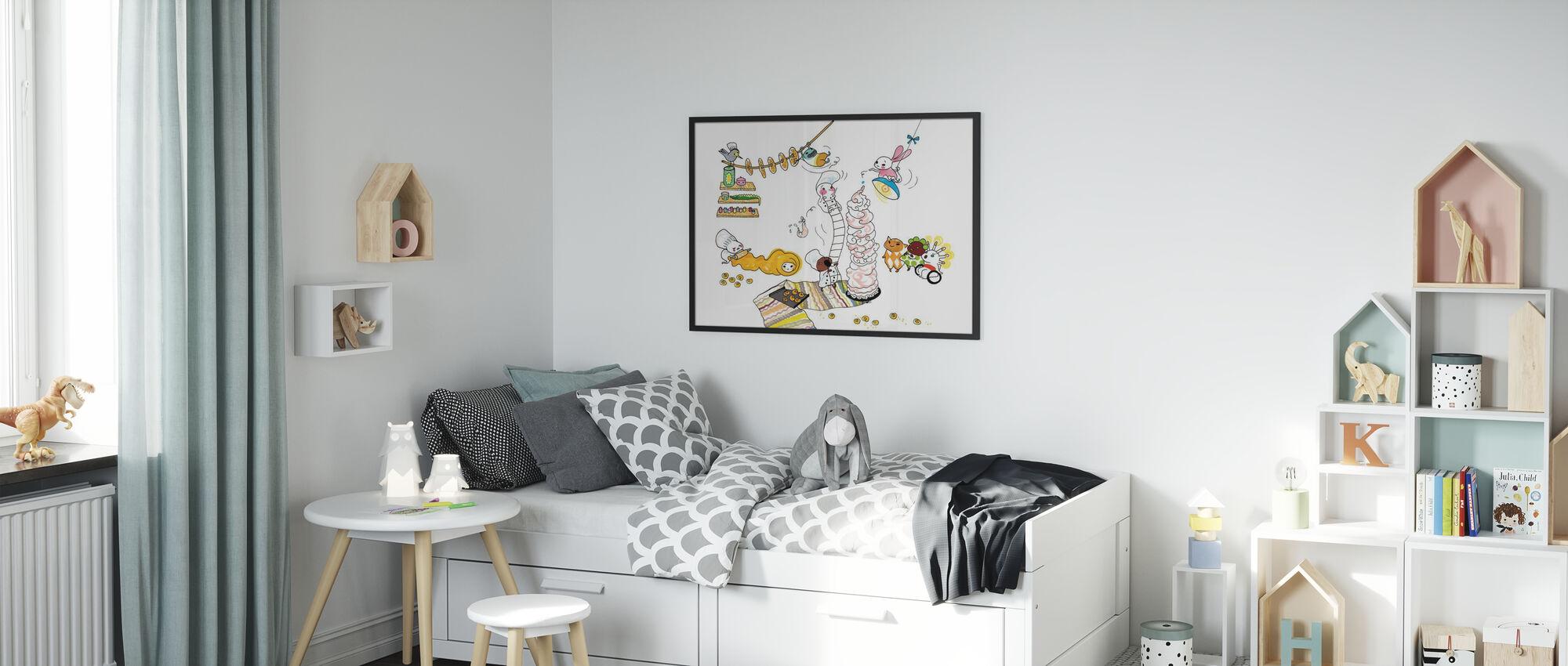 hiernamaals - Ingelijste print - Kinderkamer