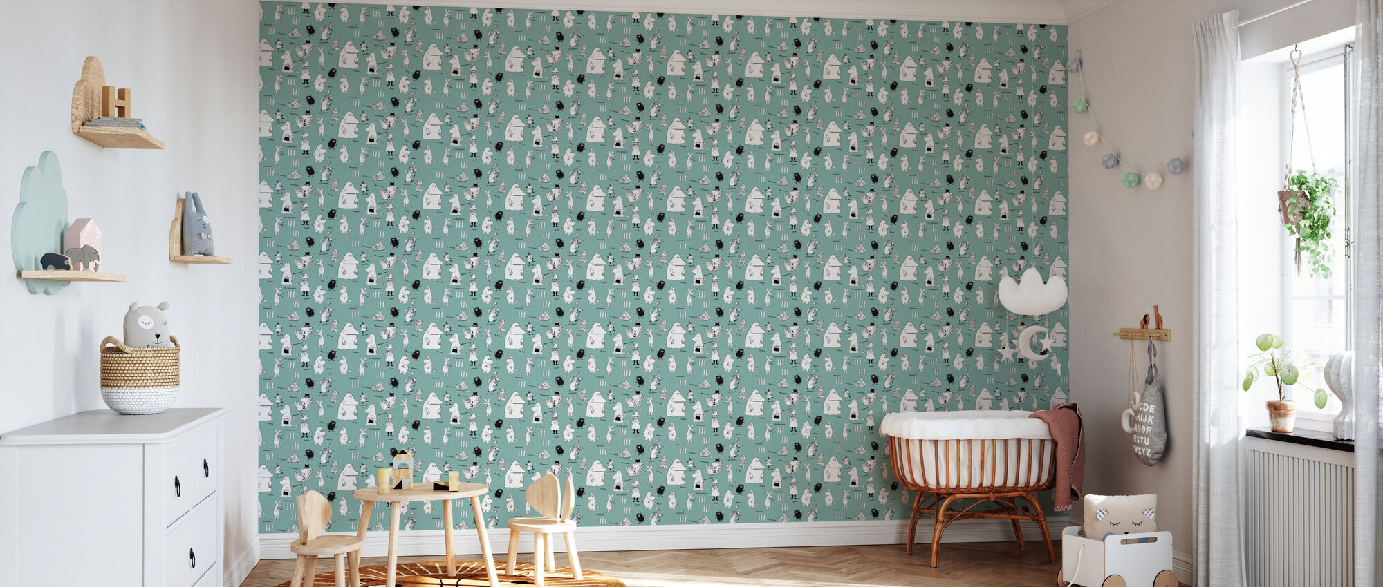 Moomin - Characters Green - Wallpaper - Nursery