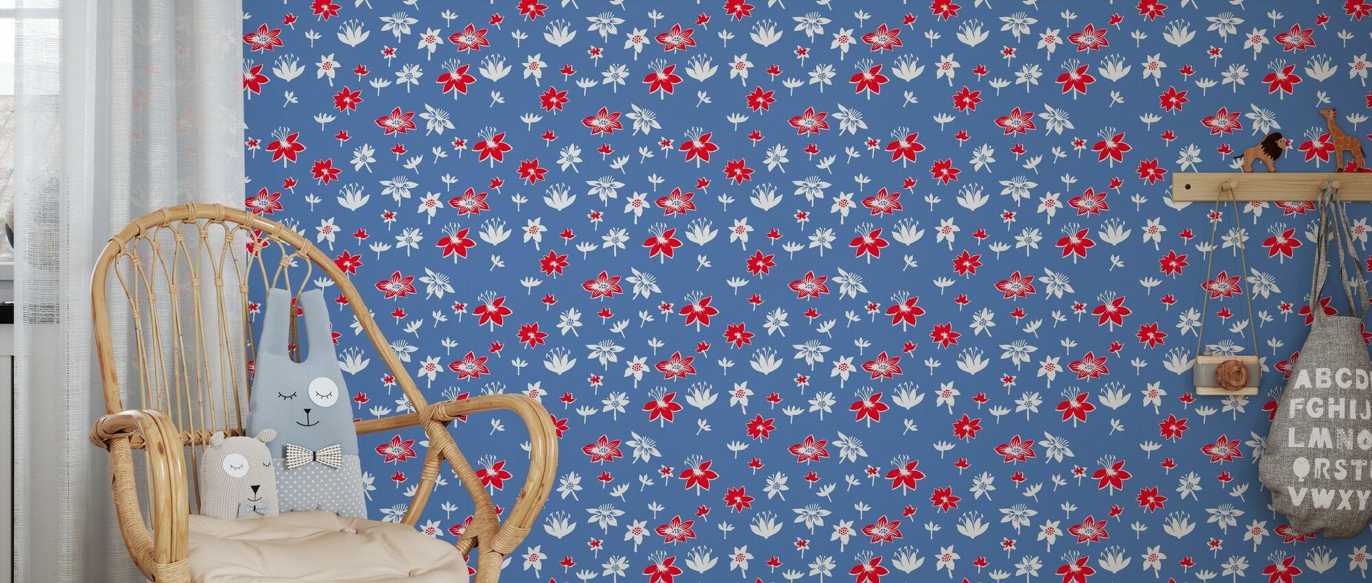 Moomin - Flowers - Wallpaper - Kids Room