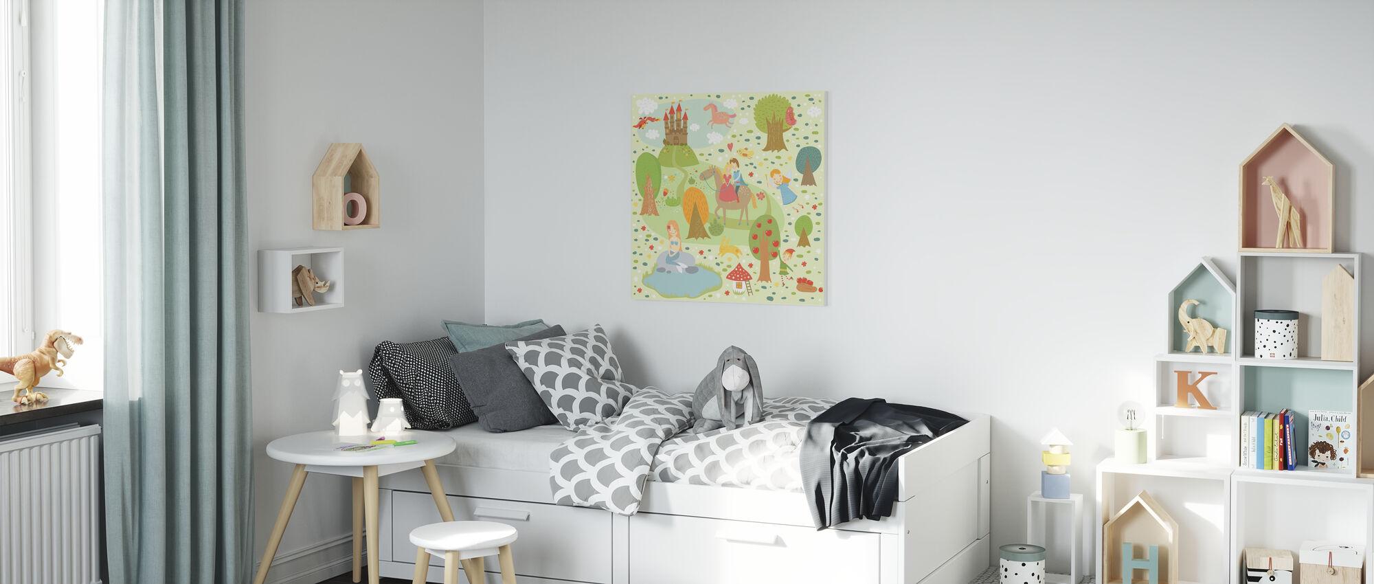 Fairy Tale XL - Canvas print - Kids Room