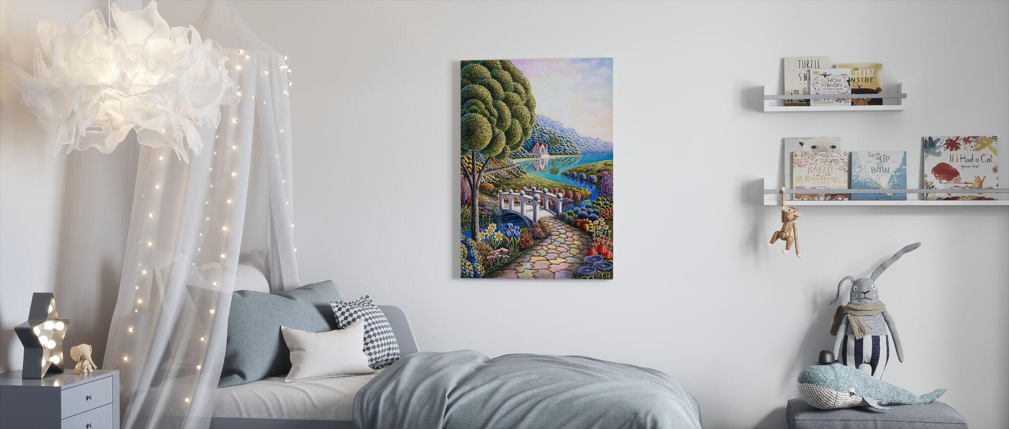 Påskliljor - Canvastavla - Barnrum
