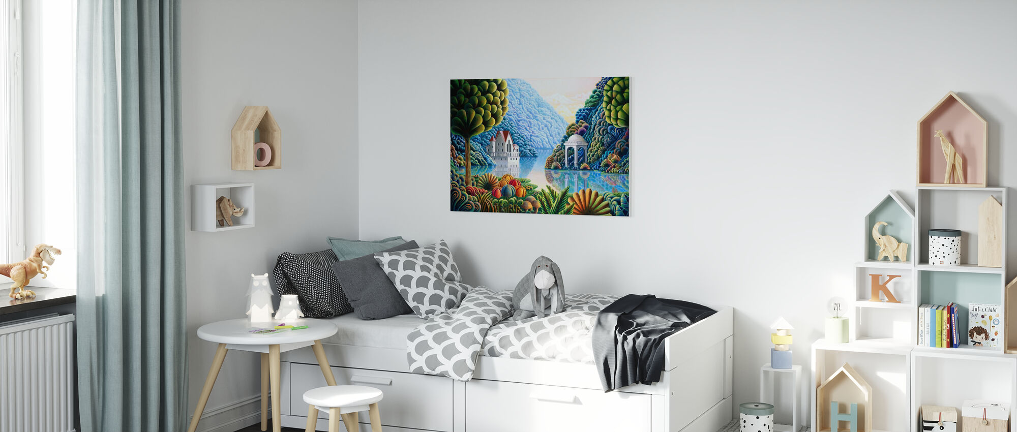 Teal Lake - Canvas print - Kids Room