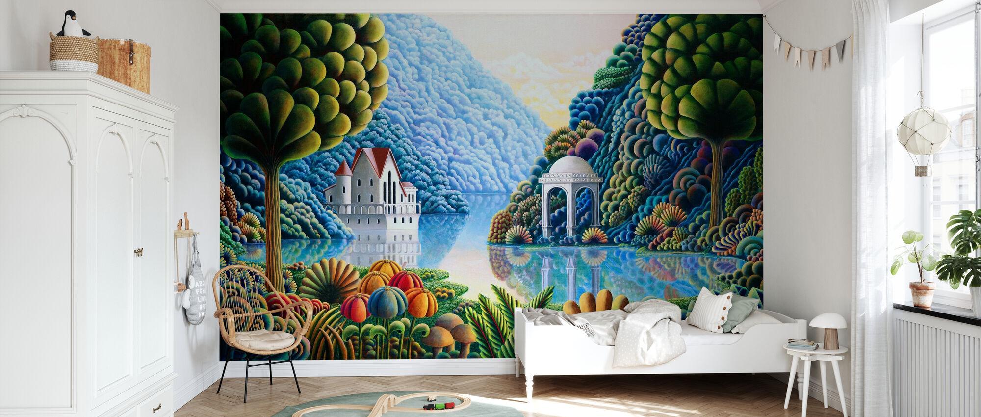 Teal Lake - Wallpaper - Kids Room