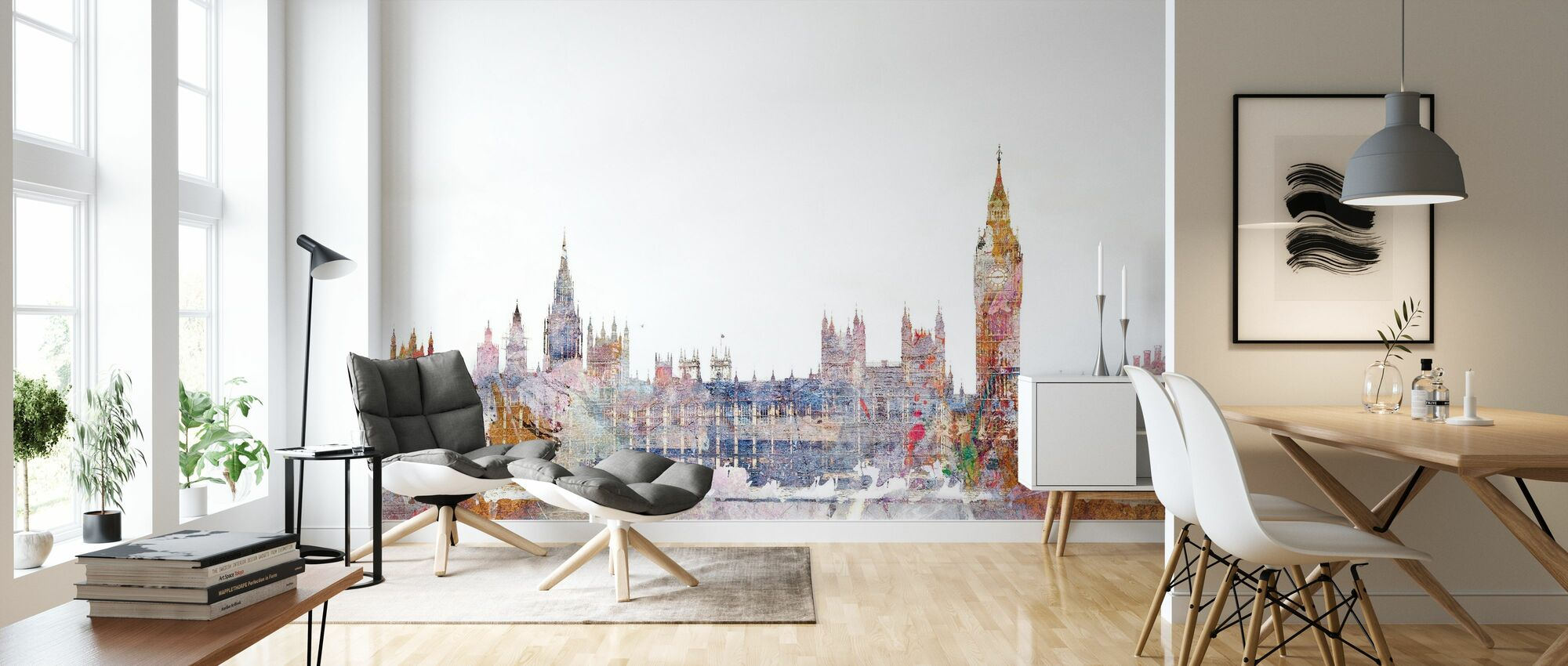 Parlamentet farge splash - Tapet - Stue