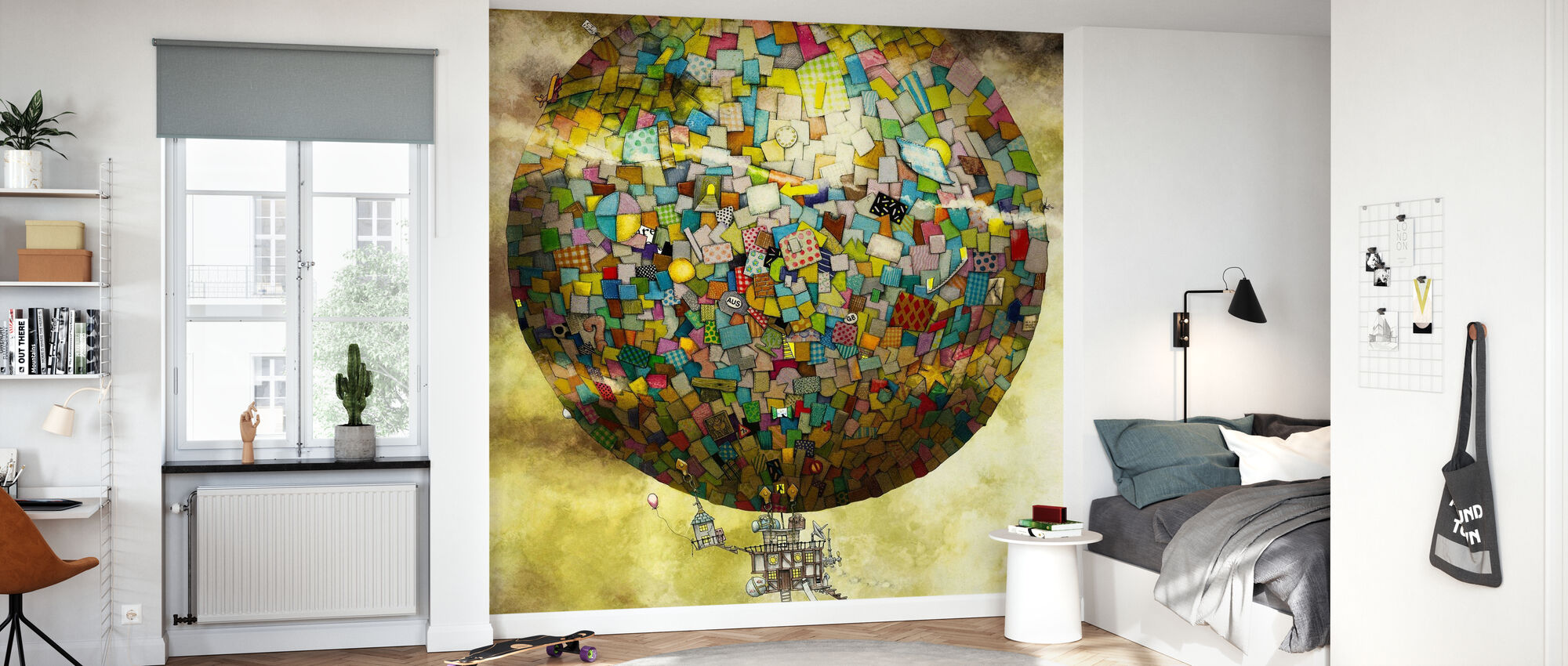 Up, Up and Away - Wallpaper - Kids Room