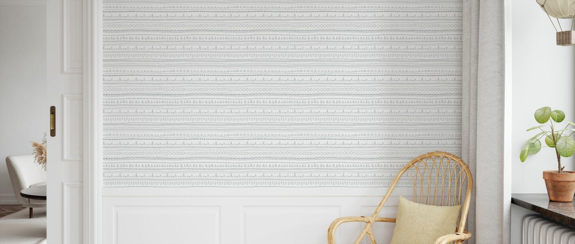 Nordic Folk Ash - Wallpaper - Kids Room