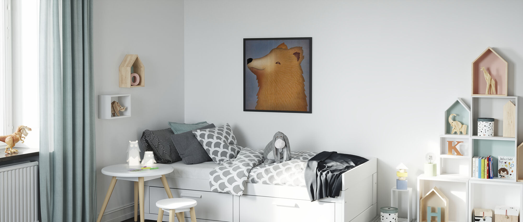 Brown Bear Wow - Framed print - Kids Room