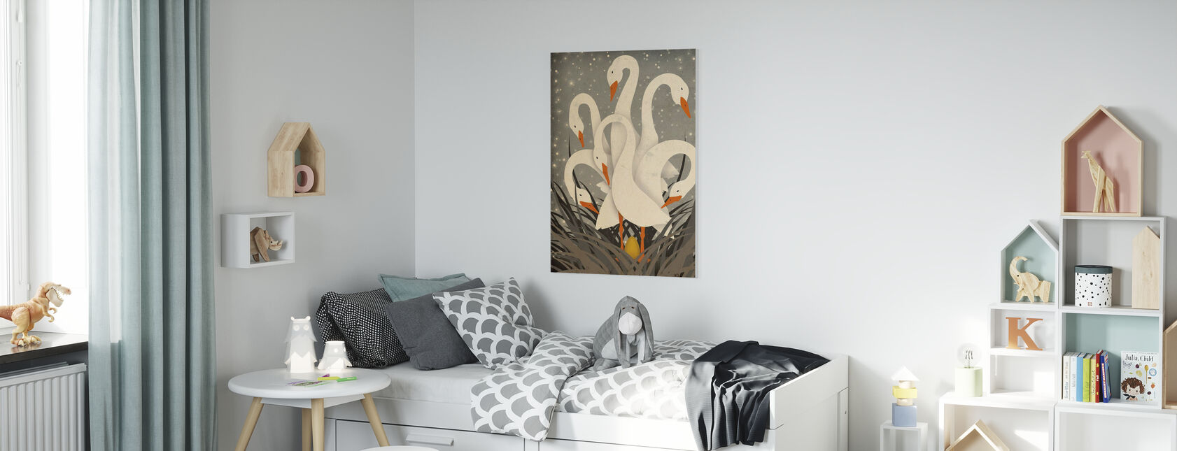 Six Geese A Laying - Canvas print - Kids Room