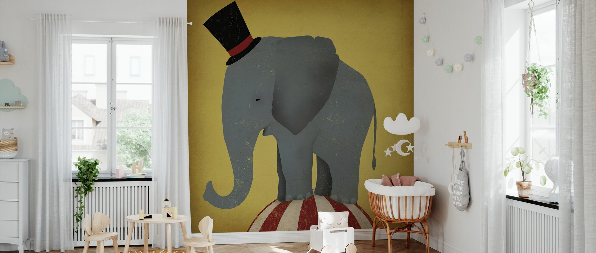 Circus Elephant - Wallpaper - Nursery