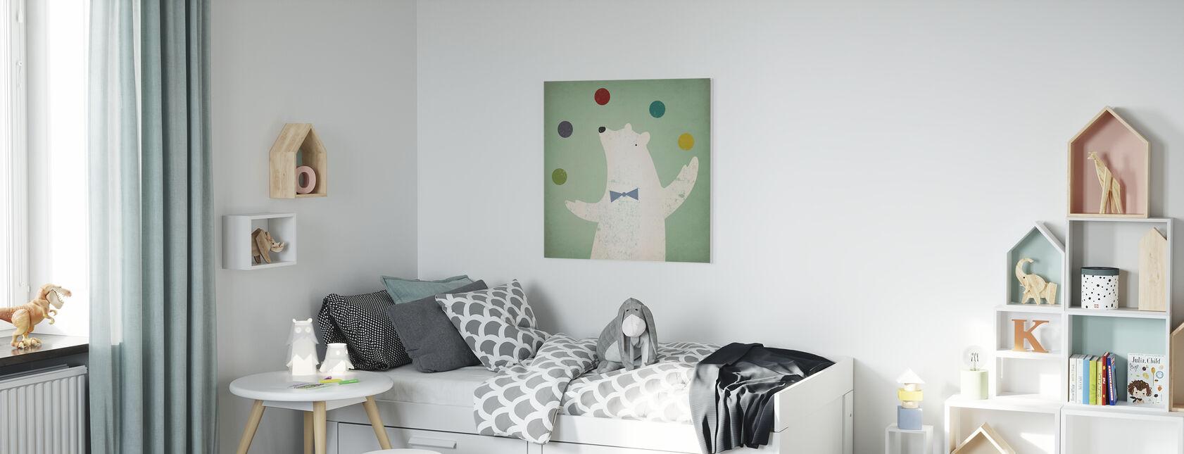 Sirkus jääkarhu - Canvastaulu - Lastenhuone