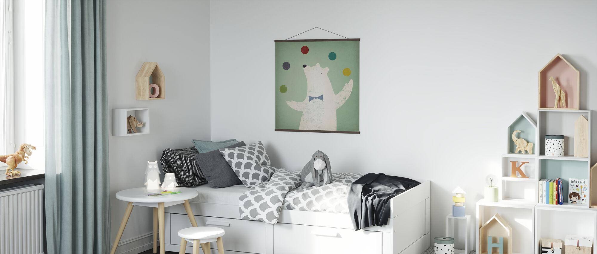 Circus Polar Bear - Poster - Kids Room