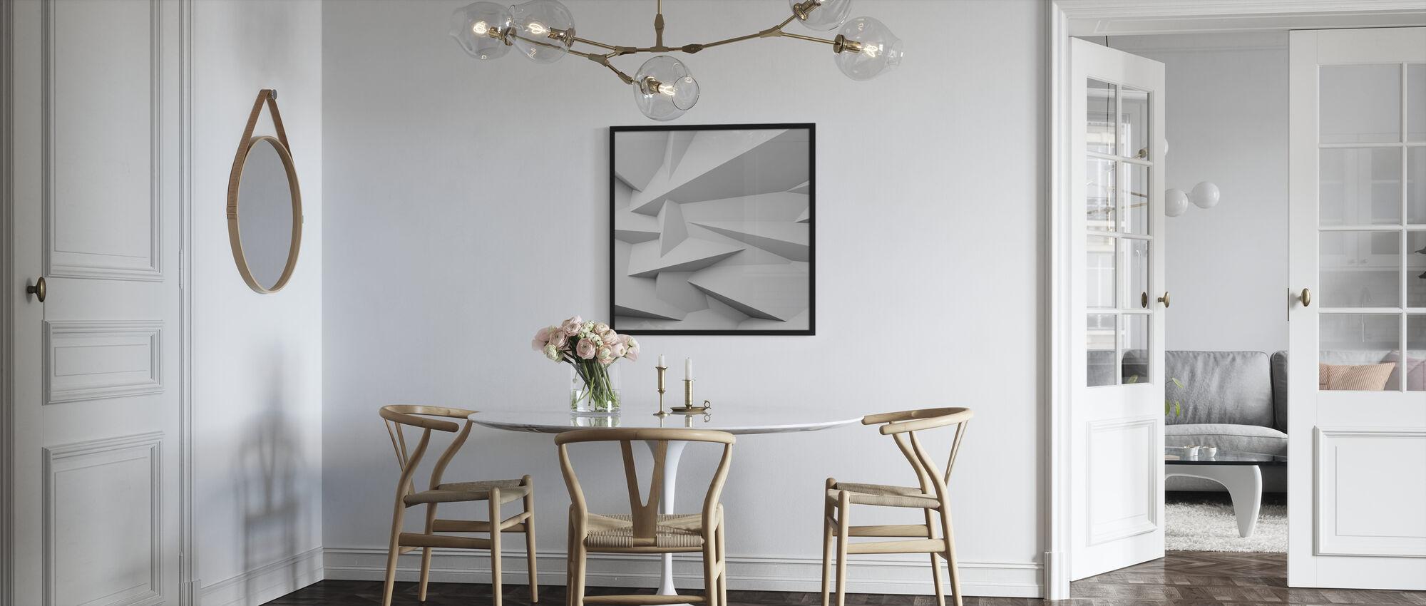 3D muur met facetten - Ingelijste print - Keuken