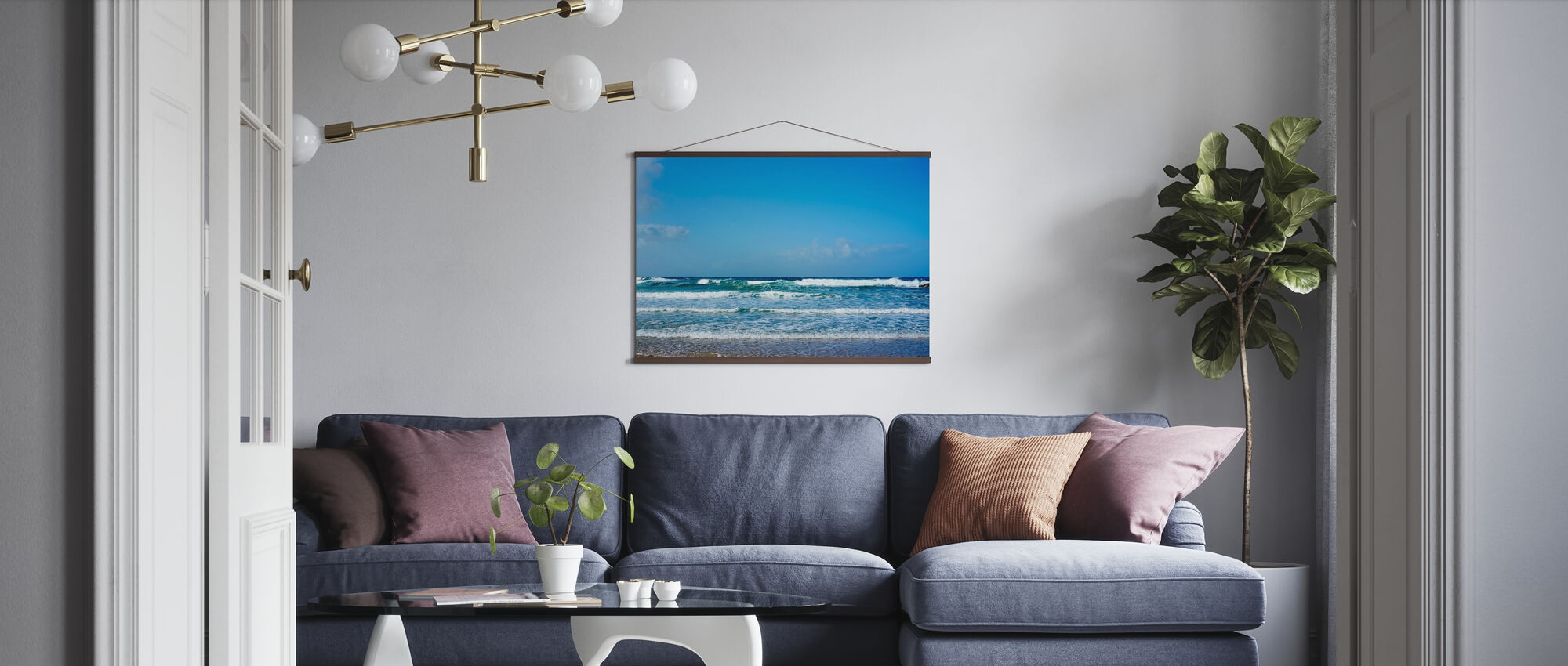 Soft Atlantic Waves - Poster - Living Room