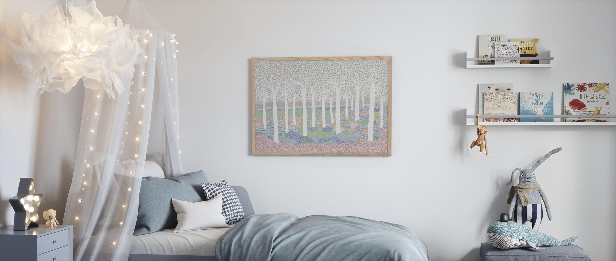 Flower Forest - Framed print - Kids Room