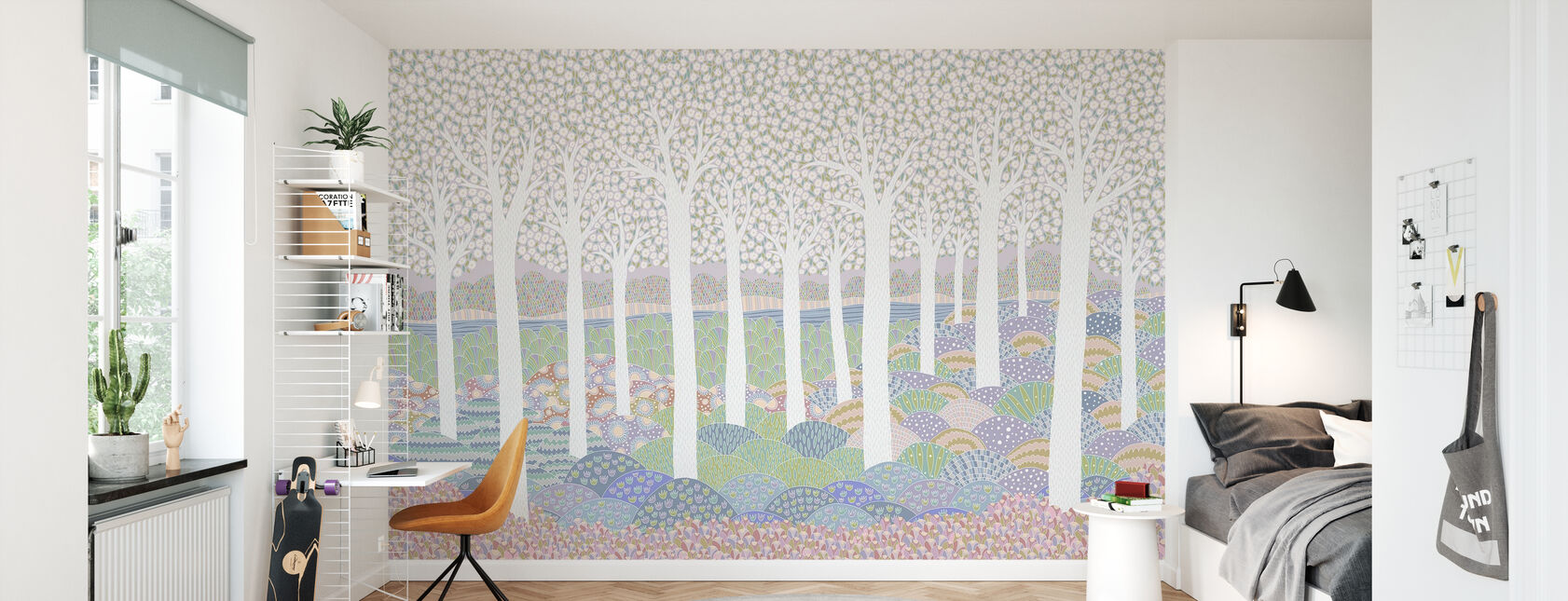 Flower Forest - Wallpaper - Kids Room