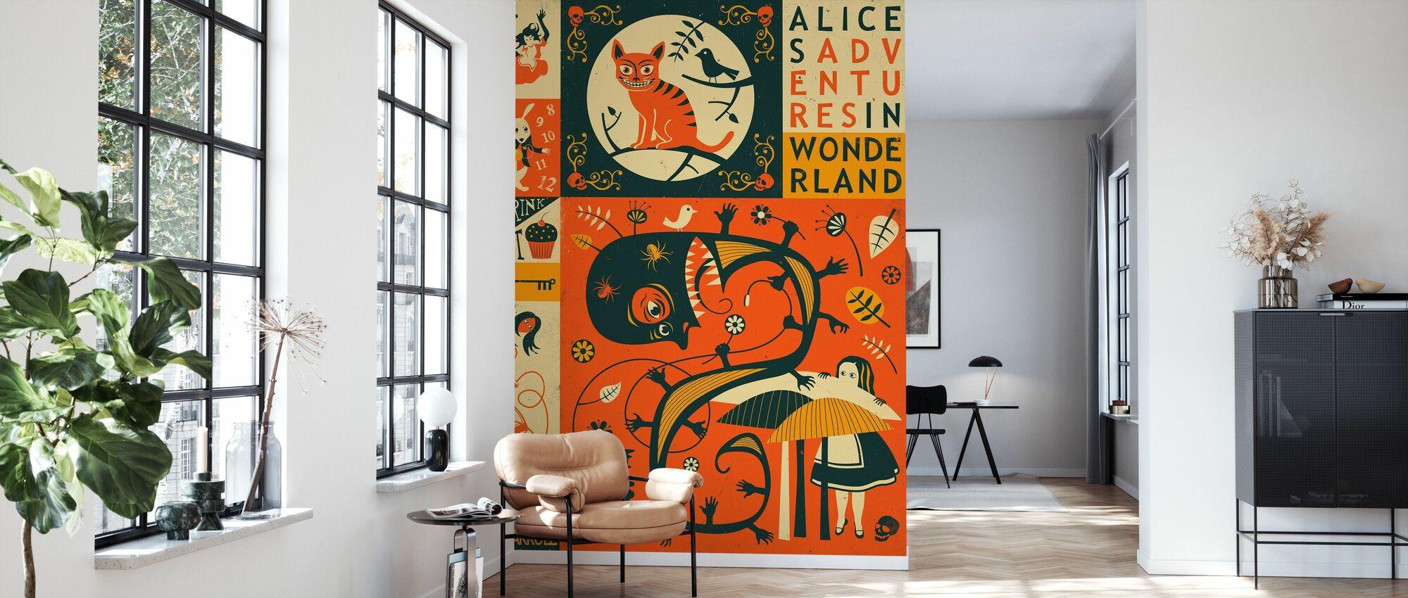 Alice in Wonderland - Wallpaper - Living Room