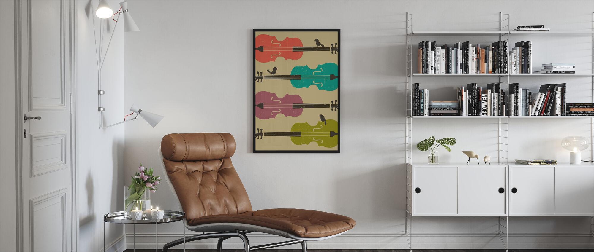 Birds on a Cello String - Framed print - Living Room