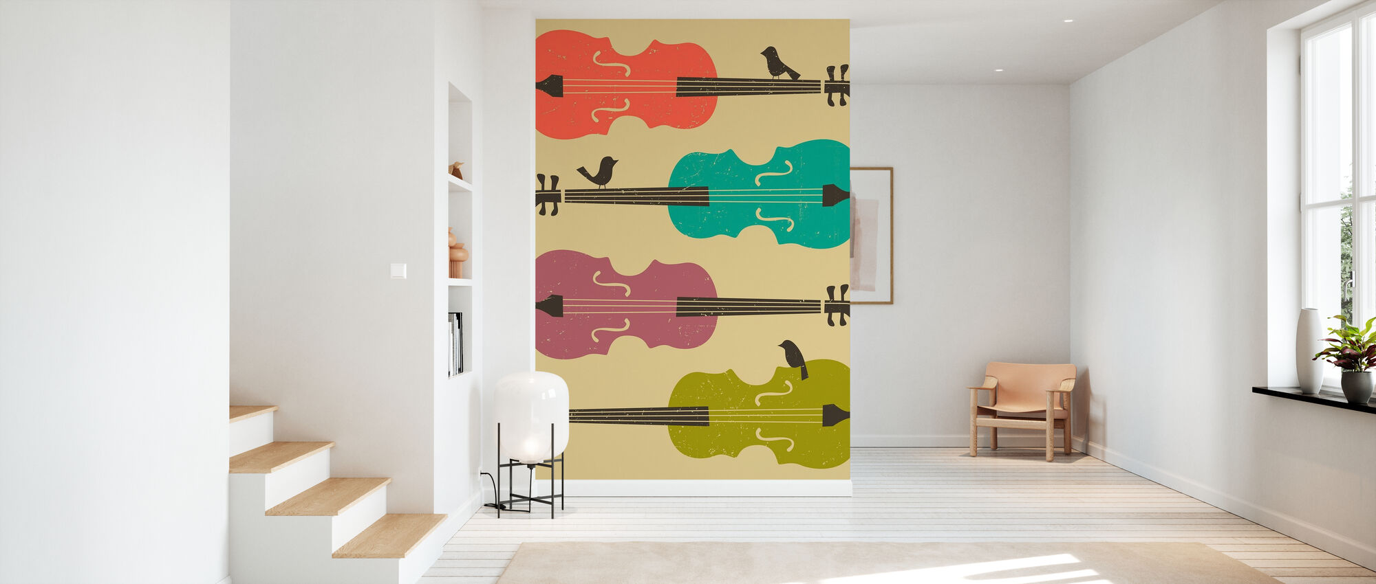 Birds on a Cello String - Wallpaper - Hallway