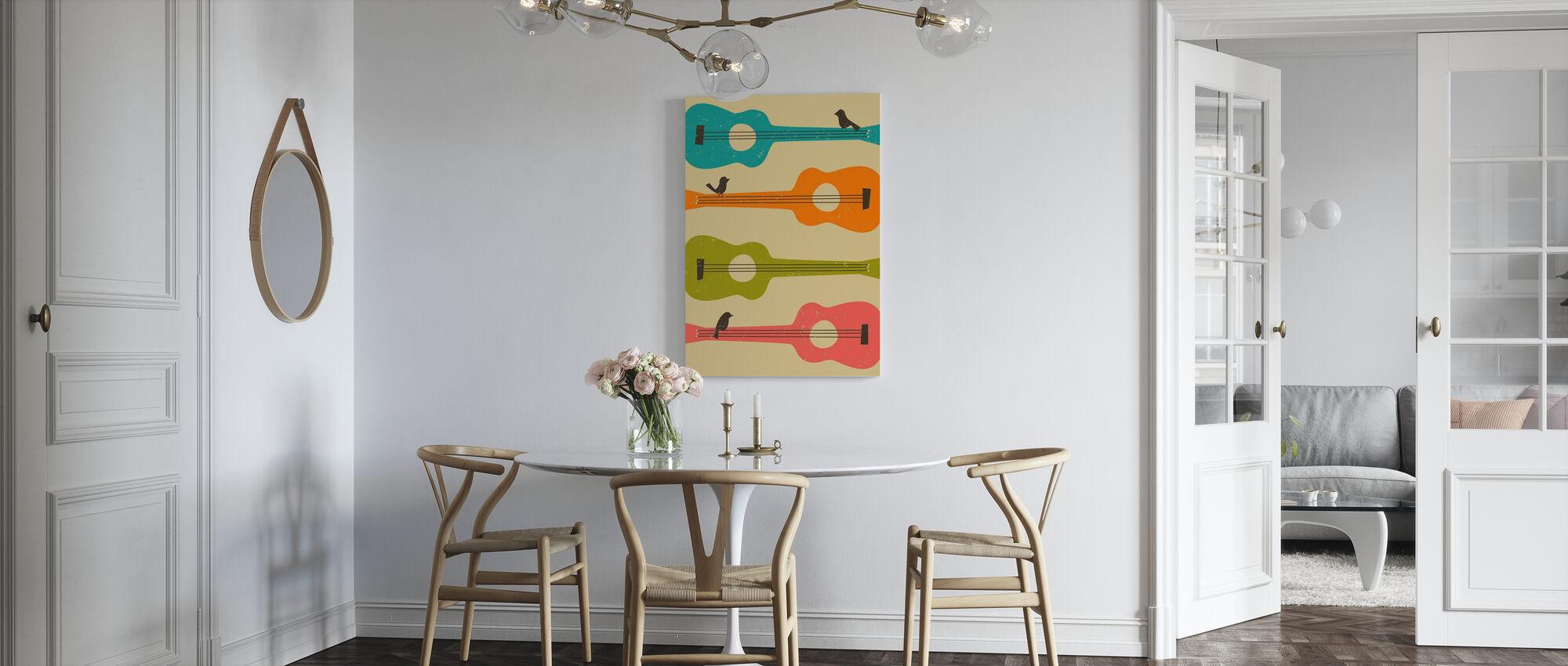 Birds on a Guitar - Canvas print - Kitchen