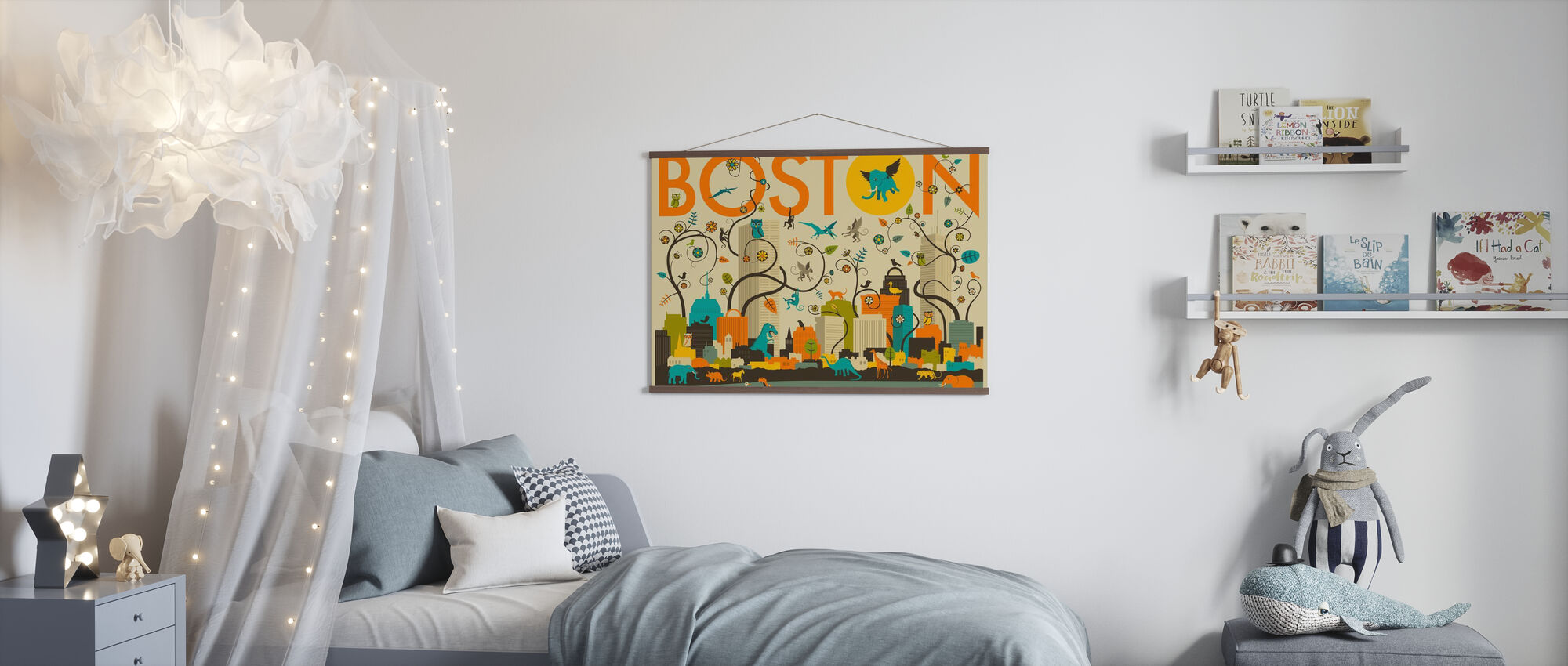 Boston Animals - Poster - Kids Room