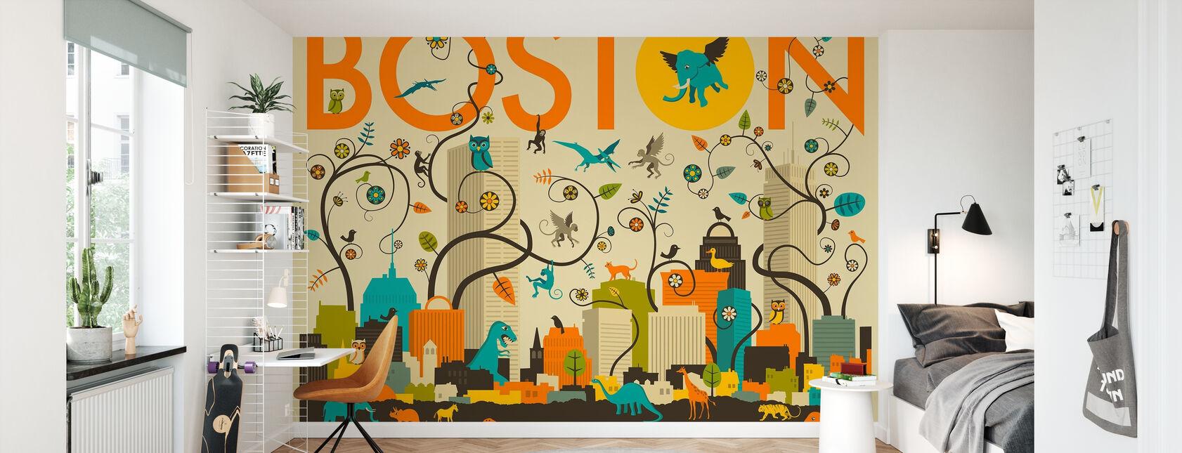 Boston Eläimet - Tapetti - Lastenhuone