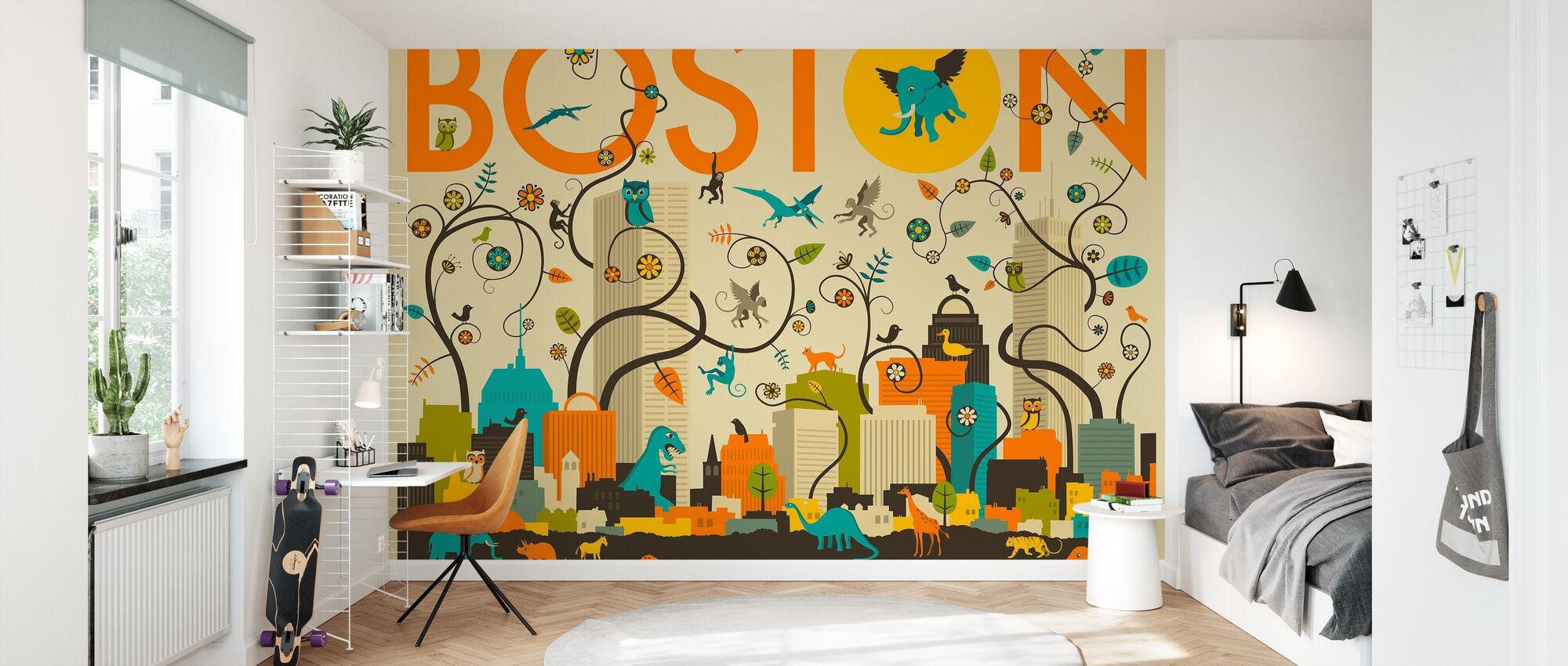 Boston Dyr - Tapet - Børneværelse