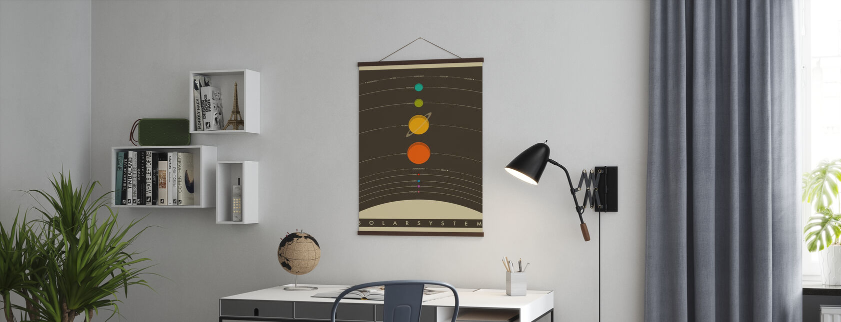 Solar System - Brown - Poster - Office