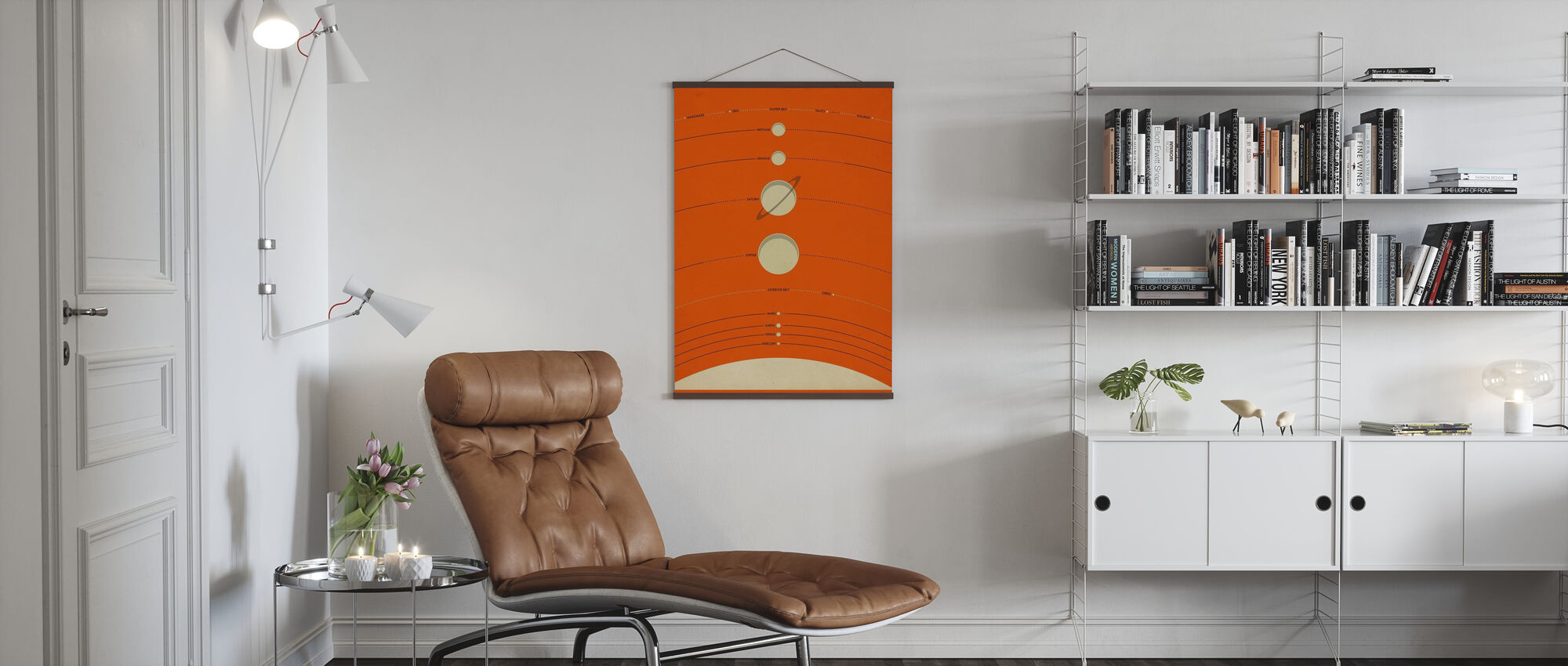 Solsystem - Orange - Poster - Vardagsrum