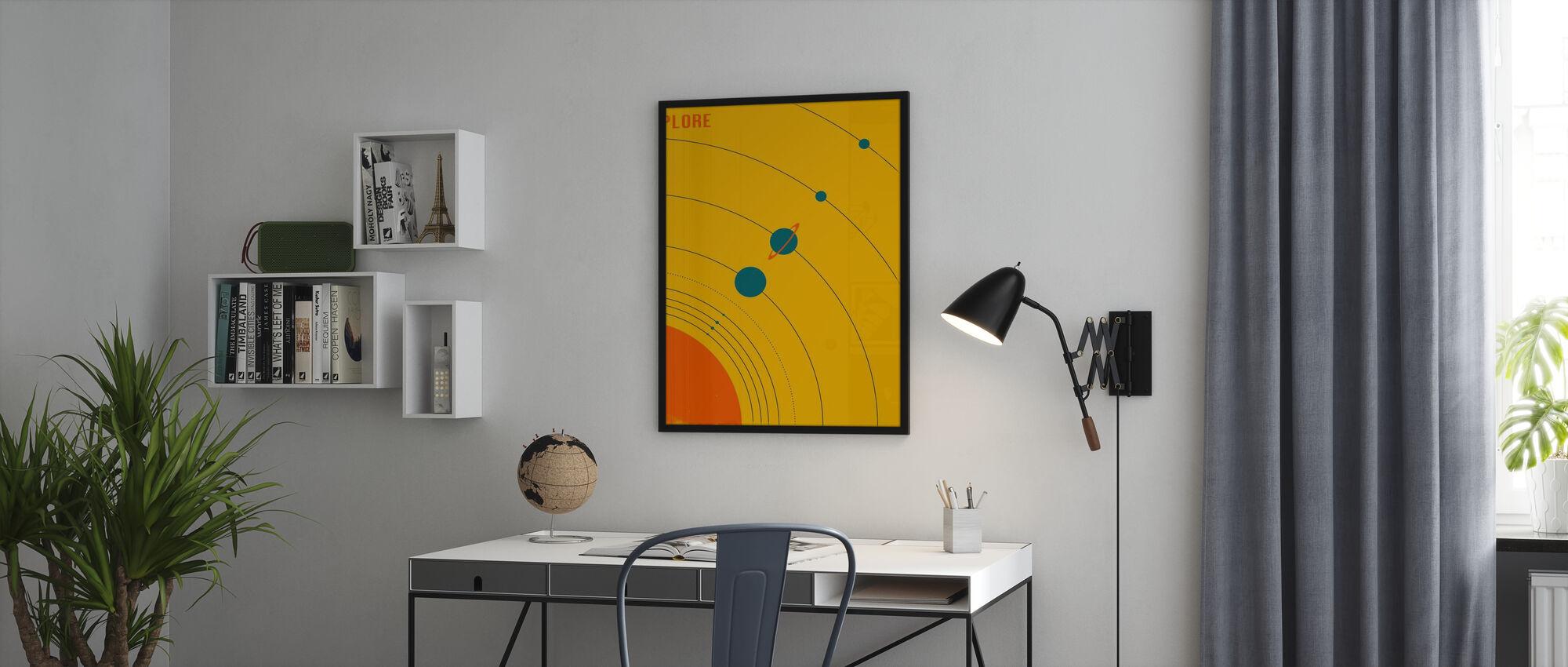 Solsystem - Utforska - Inramad tavla - Kontor