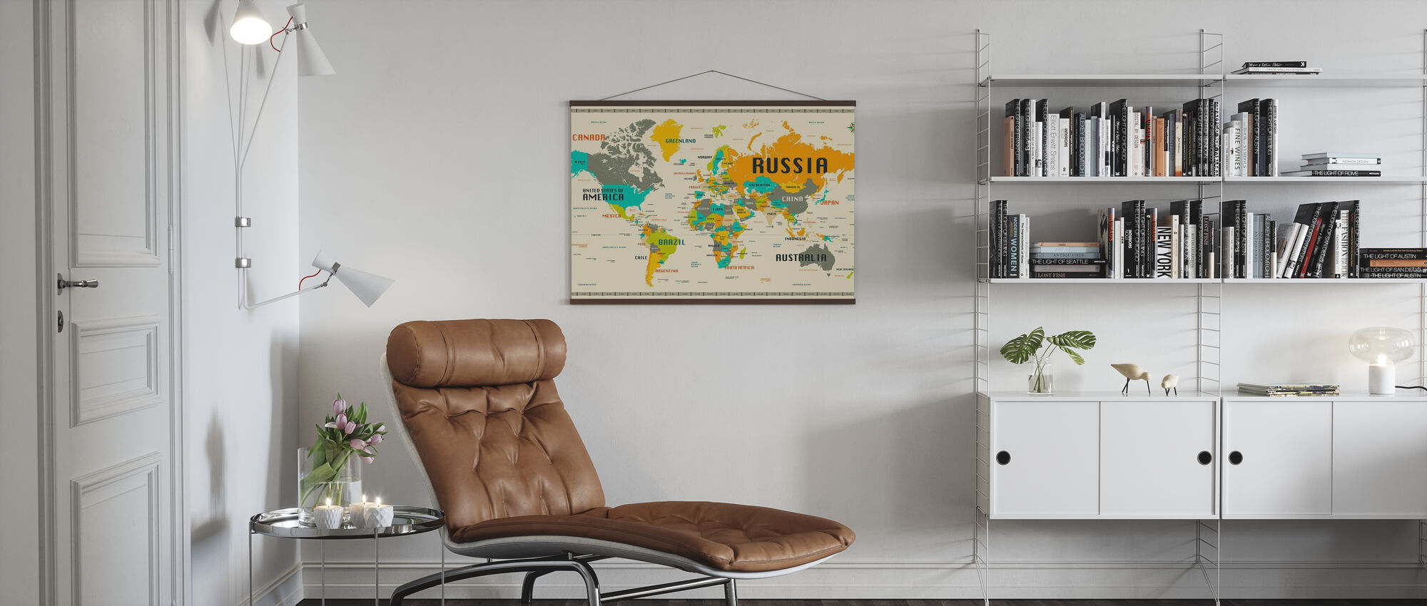 World Map Explore - Poster - Living Room