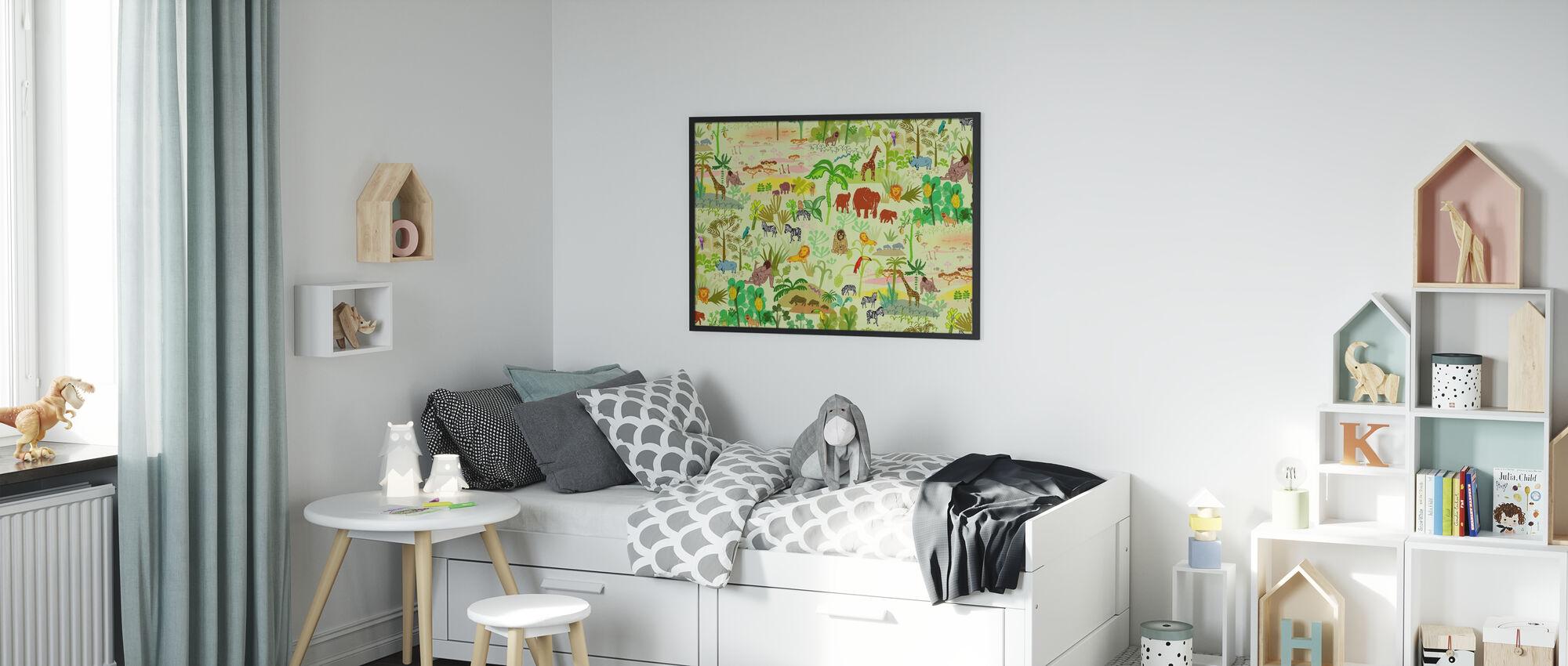 Serengeti pattern - Poster - Kids Room