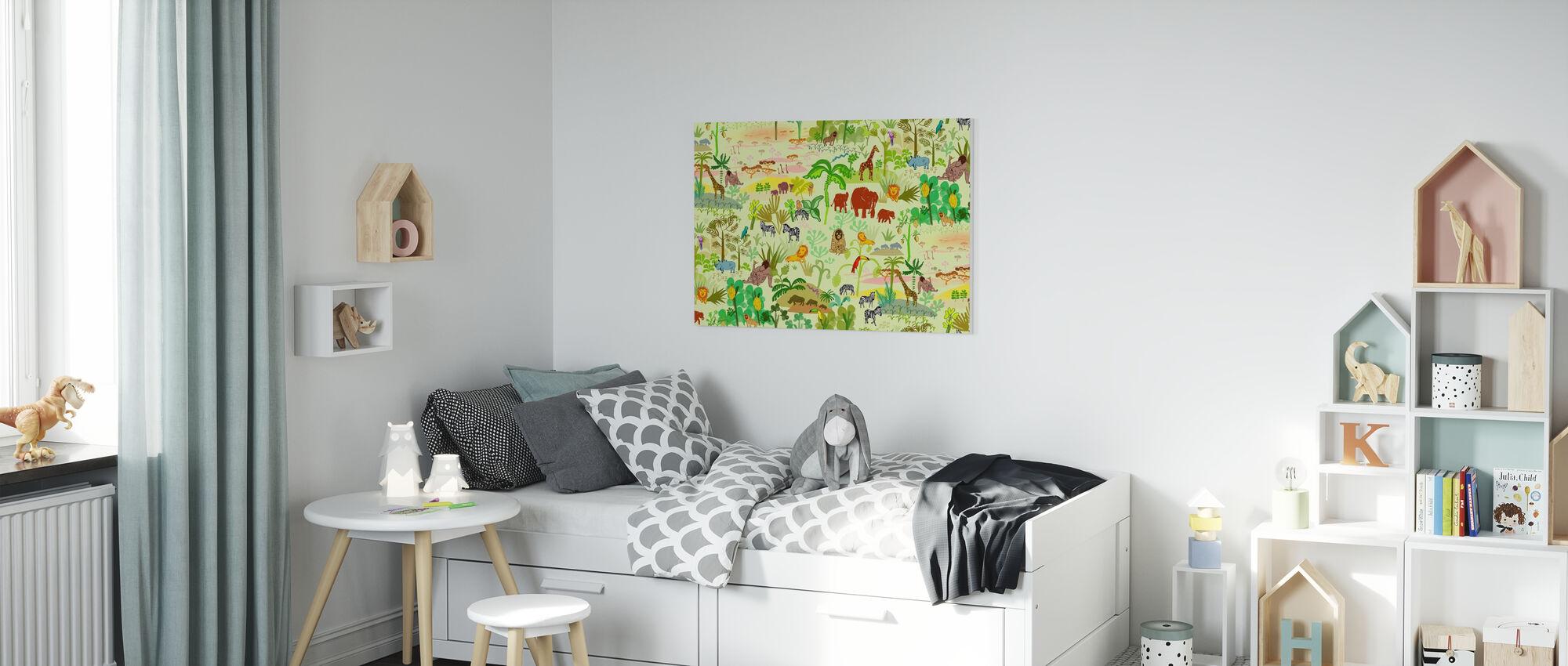 Serengeti patroon - Canvas print - Kinderkamer
