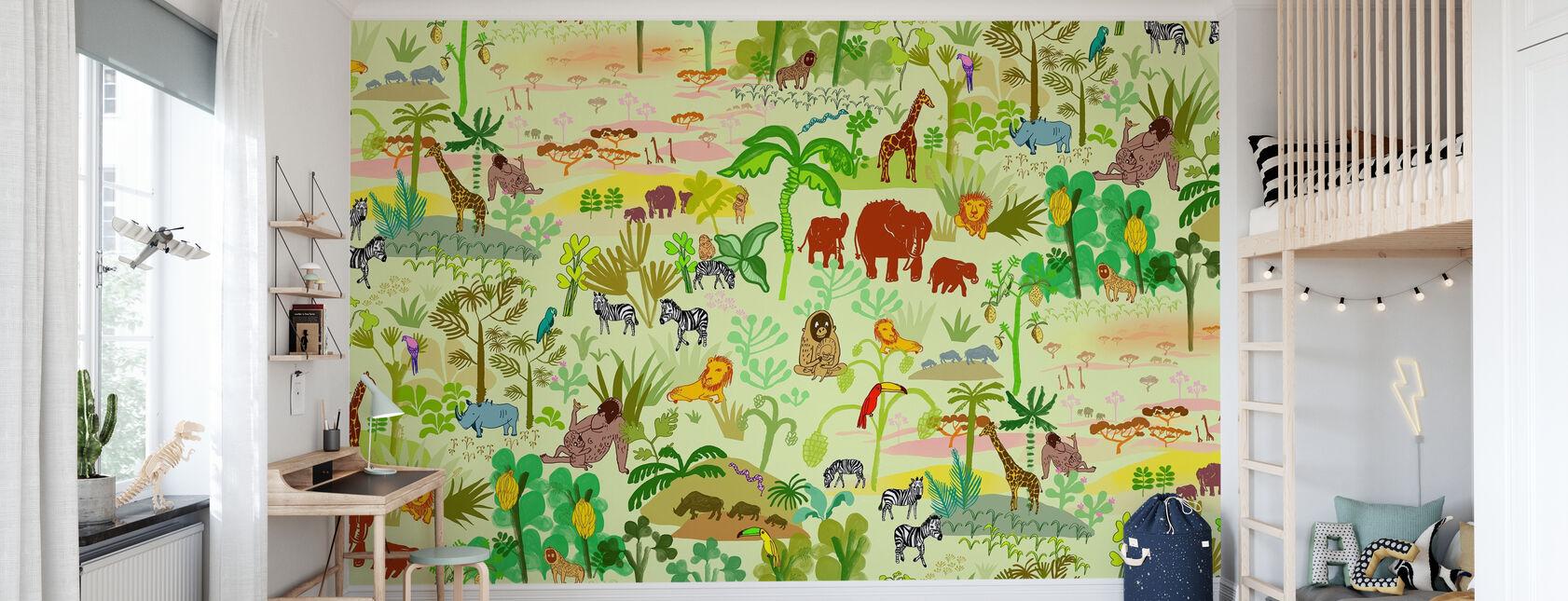 Serengeti patroon - Behang - Kinderkamer