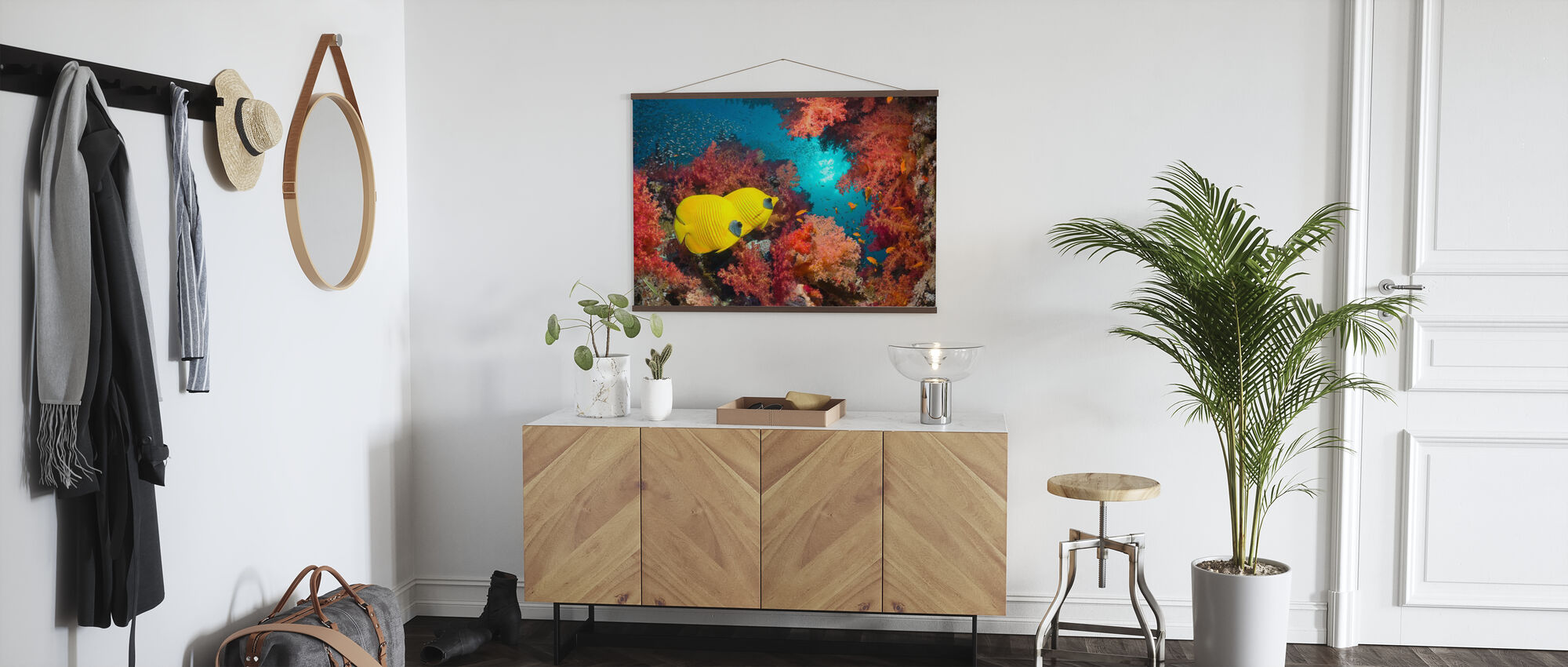 Butterfly Fish and Red Corals - Poster - Hallway