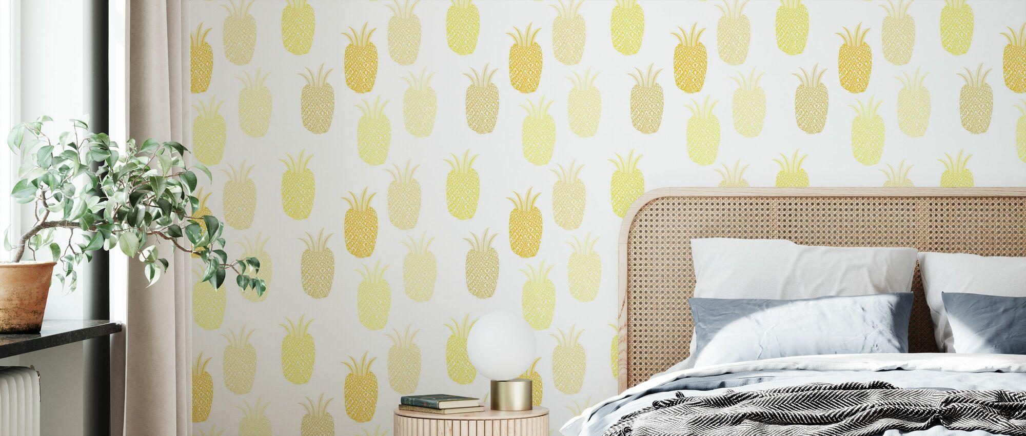 Pineapple - Wallpaper - Bedroom