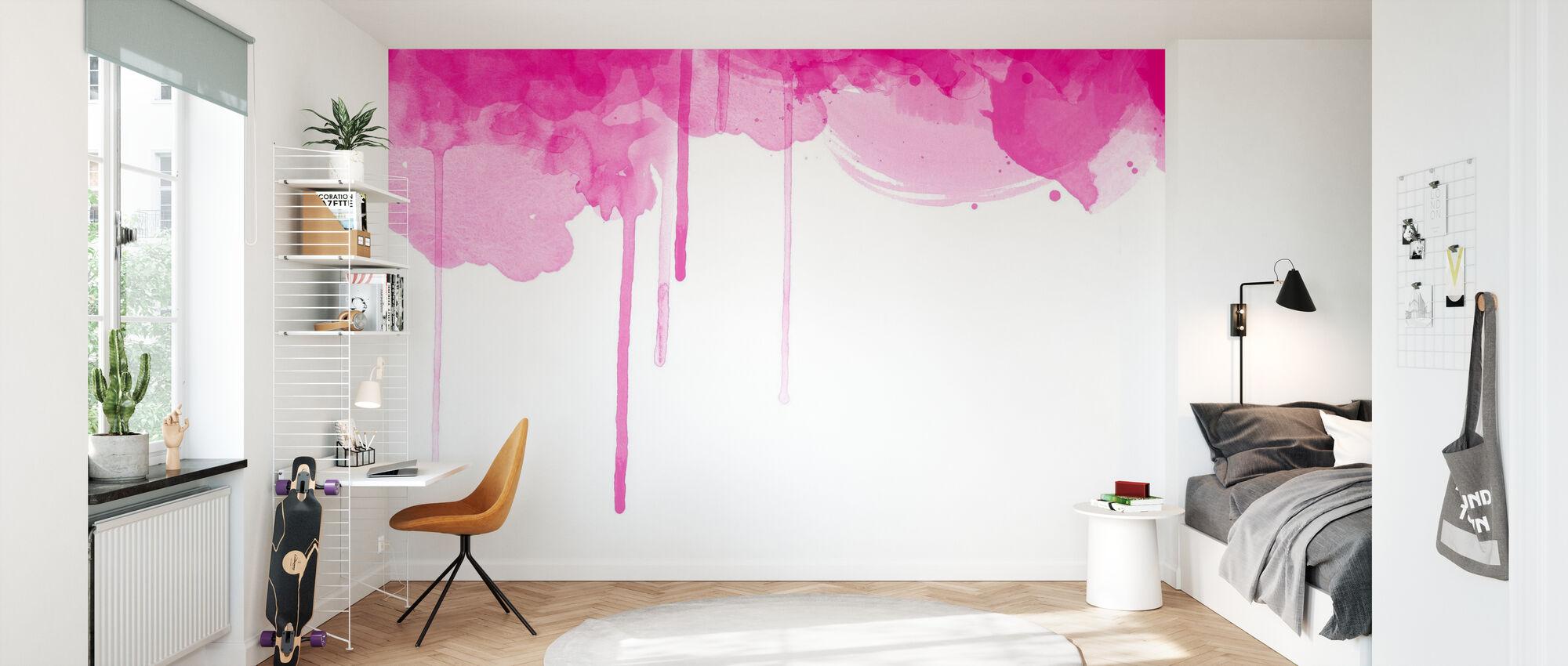 Fluent Fuchsia Watercolor - Wallpaper - Kids Room