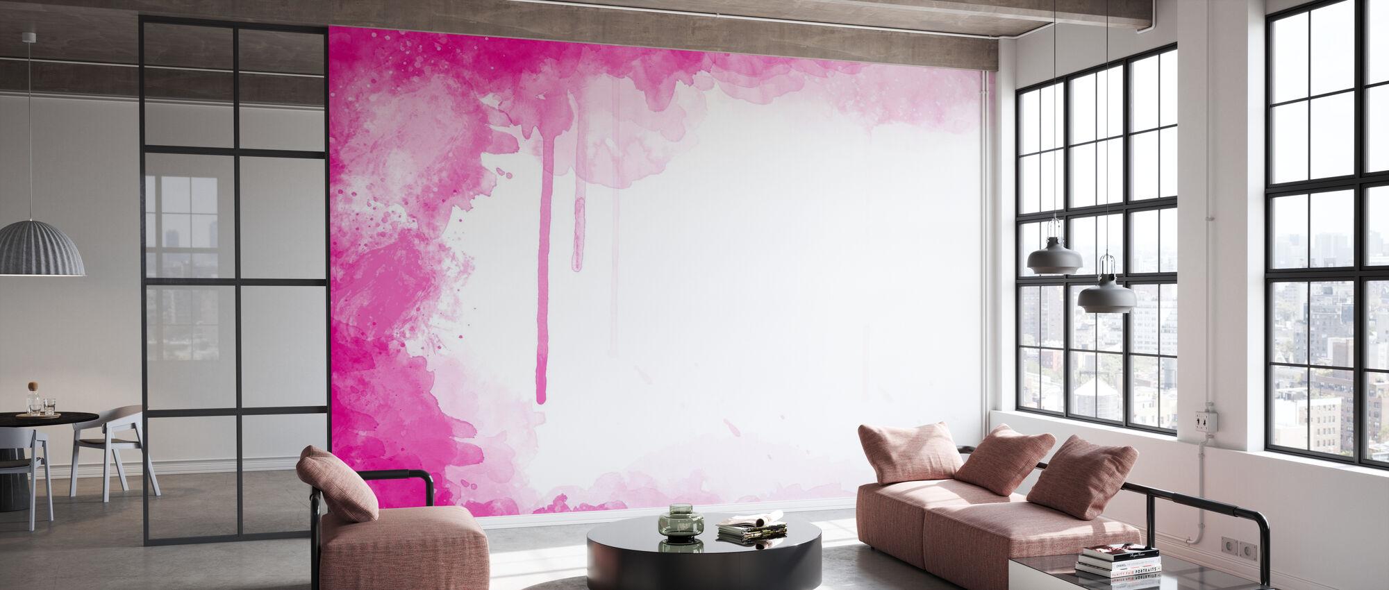 Fuchsia Watercolor - Wallpaper - Office