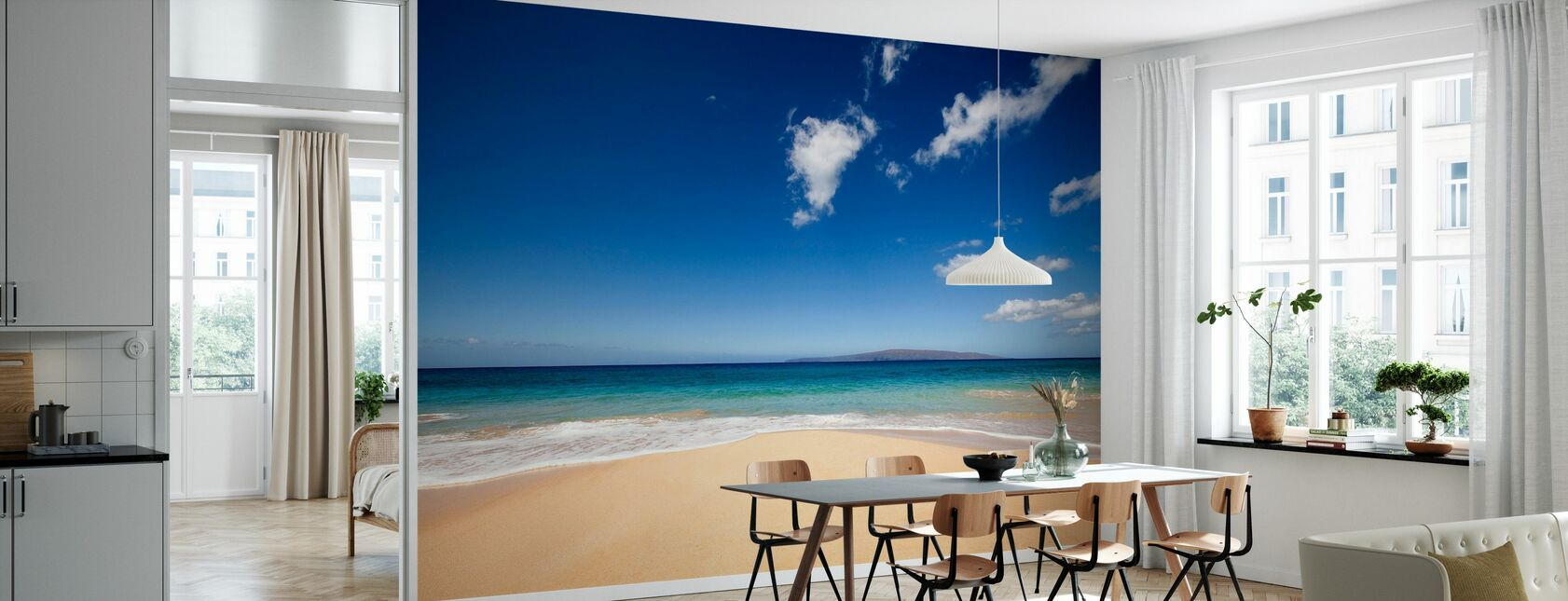 Blue Noon at the Beach - Wallpaper - Kitchen