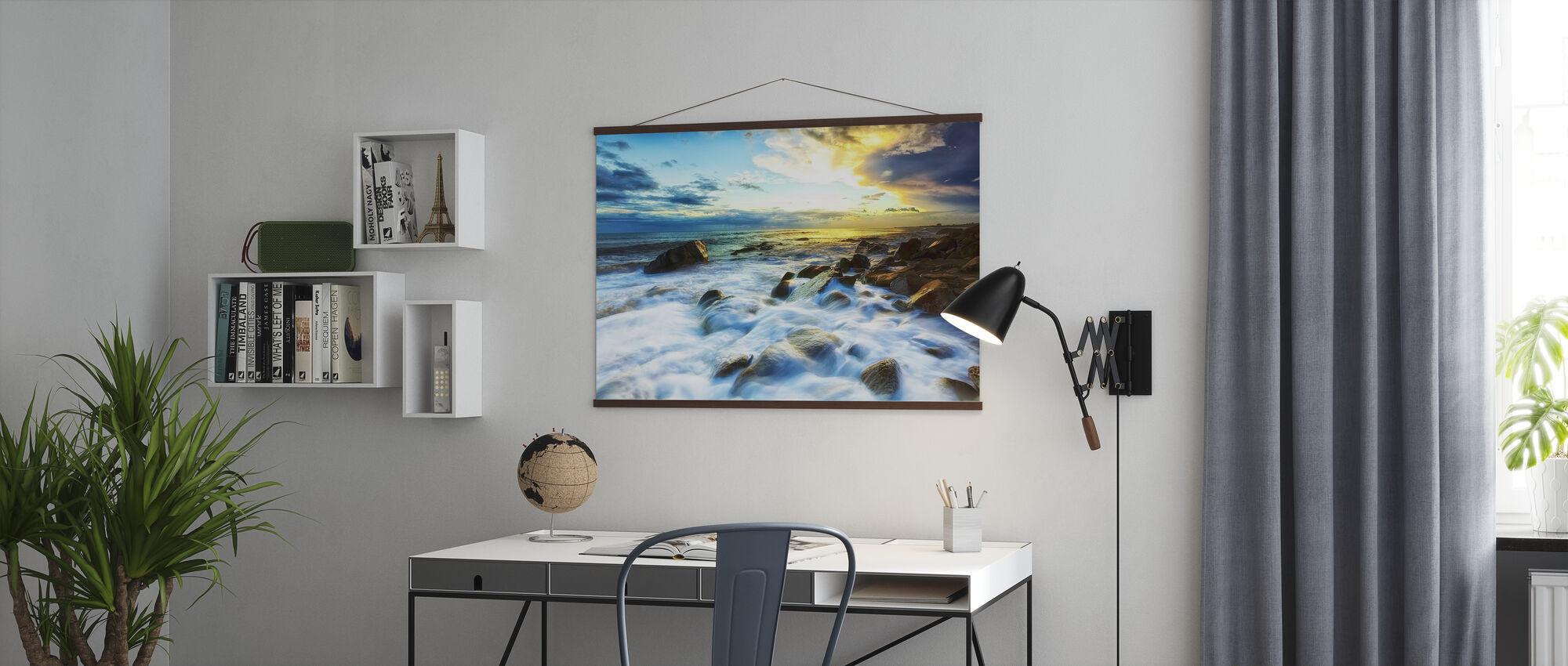 Waves Crashing - Poster - Office