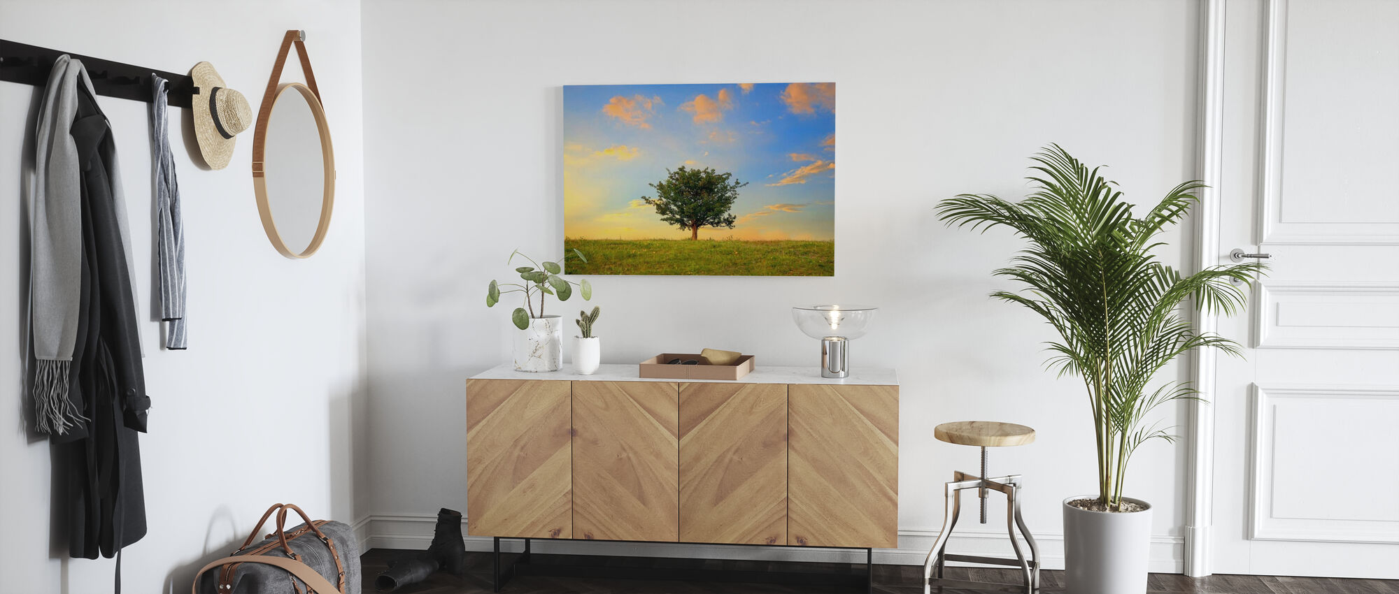 Hawthorn Tree and Golden Clouds - Canvas print - Hallway