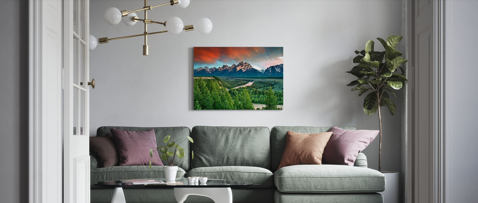 Snake rivier - Canvas print - Woonkamer