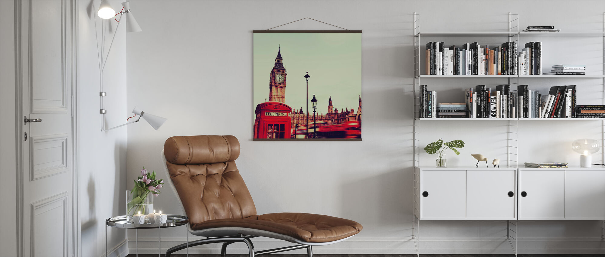 Telephone Booth and Big Ben - Poster - Living Room