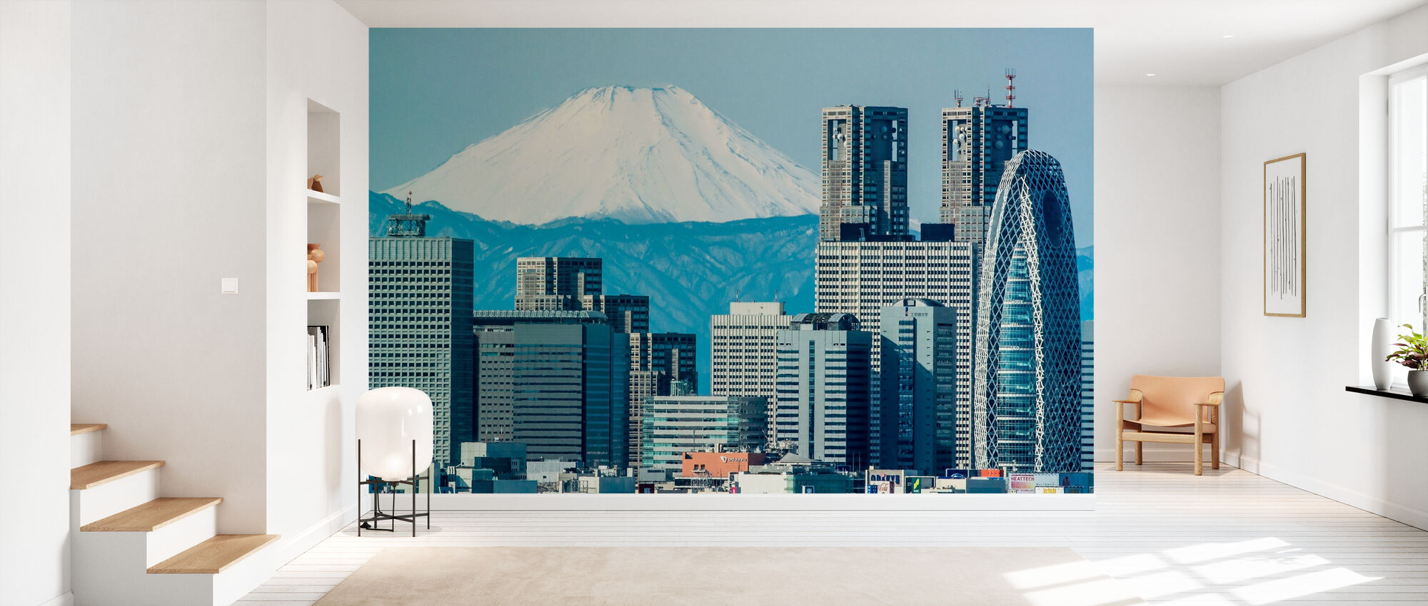 Fuji över Shinjuku - Tapet - Hall