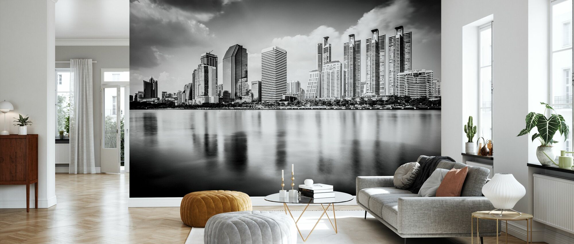 Bangkok Skyline - Tapet - Stue