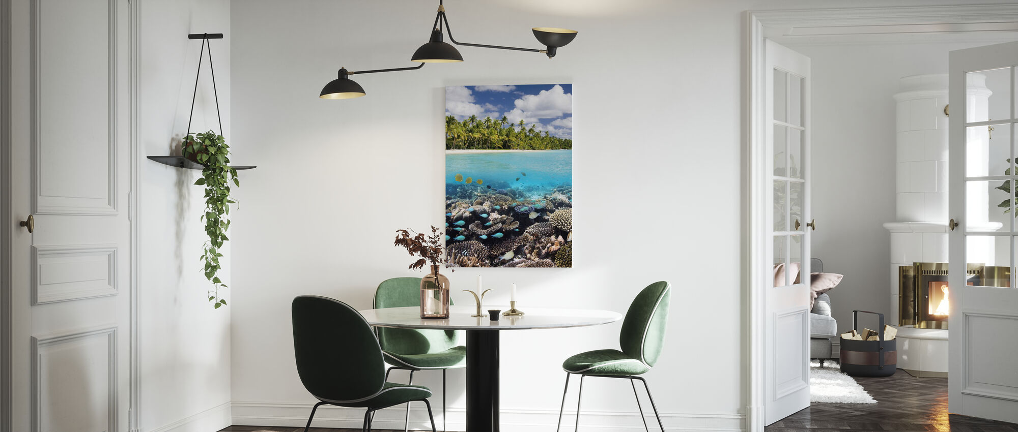 Under and above Water - Canvas print - Kitchen