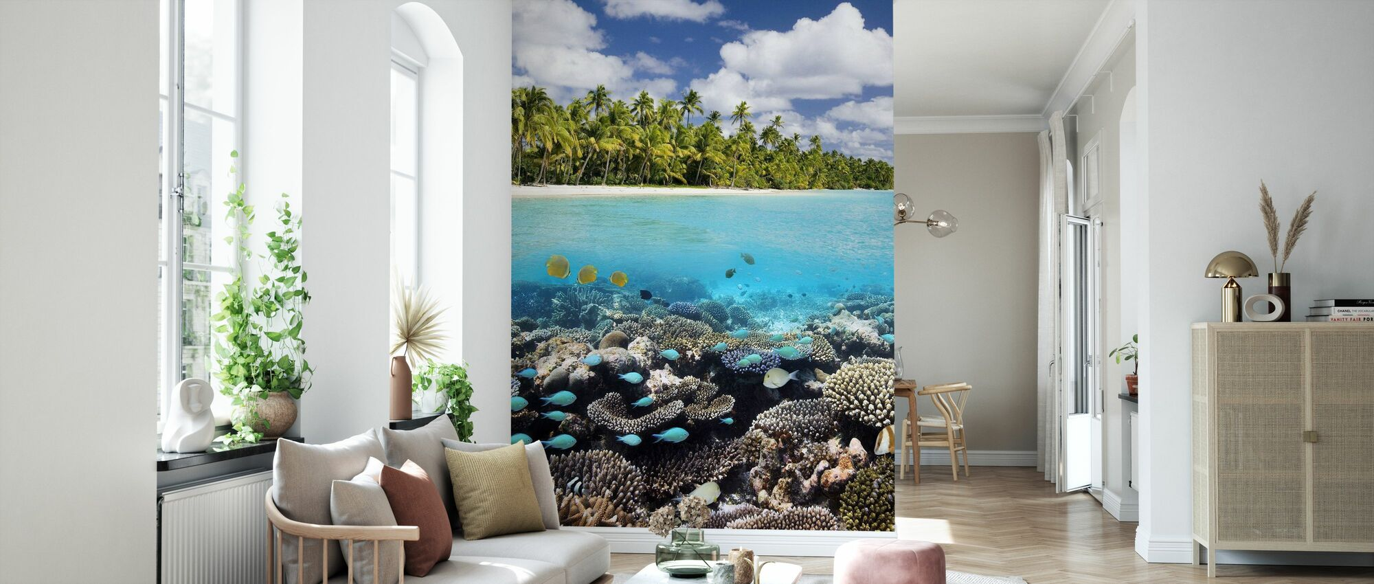 Under and above Water - Wallpaper - Living Room